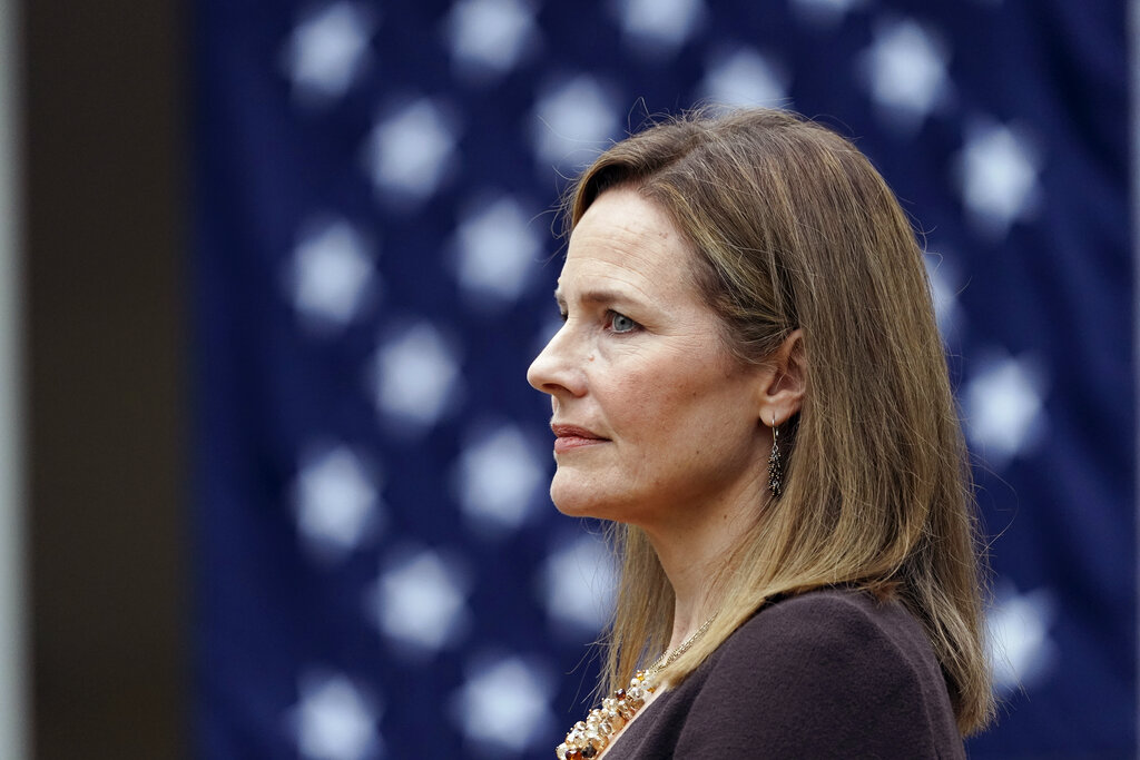 Amy Coney Barrett vows to follow law, not 'own preferences'