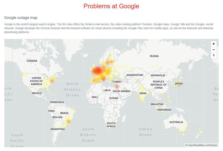Is Google Down Gmail Drive Youtube Outages Resolved Kfor Com Oklahoma City