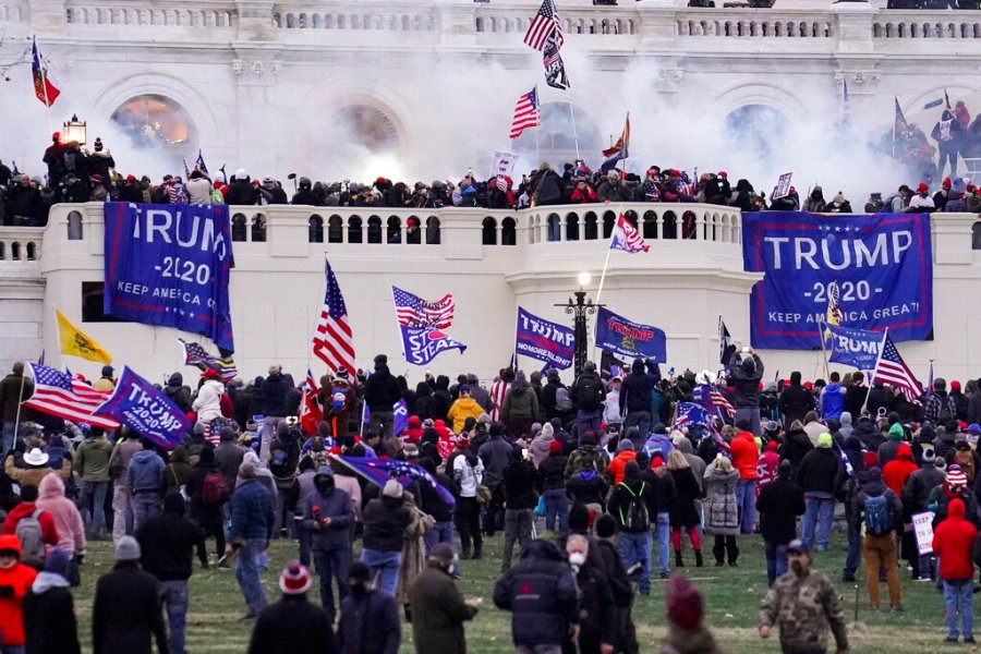Rioters supporting President Donald Trump storm the Capitol in Washington. The House is poised to launch a new investigation of the Jan. 6 Capitol insurrection on Wednesday, Jan. 30, with expected approval of a 13-person select committee to probe the violent attack. (AP Photo/John Minchillo, File)